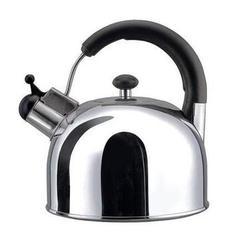 Vinzer -  Чайник BRIGHT - нержавеющая сталь, 3,0 л, свисток (арт. 89001)
