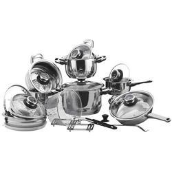 Vinzer -  Набор посуды GRAND CUISINE GLASS - 24 предмета, термодатчик, термоаккумулирующее дно, стекл, крышки (арт. 89024)
