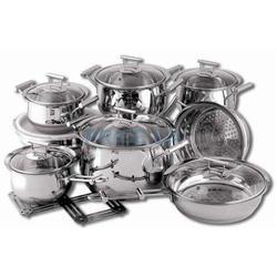 Vinzer -  Набор посуды CULINAIRE - 16 предметов, термоаккумулирующее дно, стеклянная крышка, (арт. 69031)