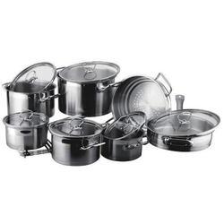 Vinzer -  Набор посуды UNIVERSUM - 14 предметов, 4-х слойное термоаккумулирующее дно, стеклянная крышка (арт. 89032)
