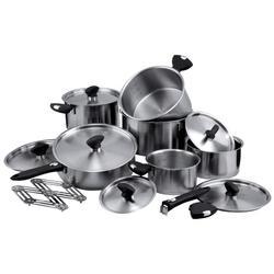 Vinzer -  Набор посуды COMFORT - 19 предметов, термоаккум, дно, съемные ручки, мерные деления (арт. 69034)