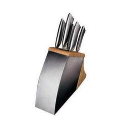 Vinzer -  Набор ножей TIGER - 6 предметов, подставка комб,: дерево - нержавеющая сталь, встроенное точило (арт. 69108)