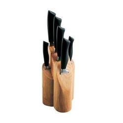 Vinzer -  Набор ножей ROCK - 7 предметов, бакелитовая ручка, деревянная подставка (арт. 69109)