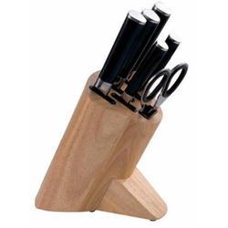 Vinzer -  Набор ножей SAKURA - 7 предметов, бакелитовая ручка, деревянная подставка (арт. 69114)