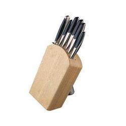 Vinzer -  Набор ножей Silhouette - 7 предметов, подставка комбинированная дерево - нержавеющая сталь (арт. 89123)