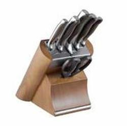 Vinzer -  Набор ножей Massive - 7 предметов, подставка комбинированная дерево - нержавеющая сталь (арт. 89124)
