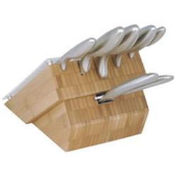 Vinzer -  Набор ножей Antarctic - 7 предметов, стальная ручка, подставка из дерева (арт. 69130)