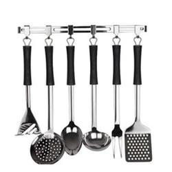 Vinzer -  Кухонный набор - 7 предметов, планка, резиновое покрытие ручек (арт. 69190)