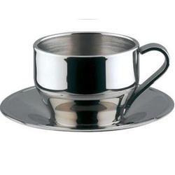 Vinzer -  Чашка для Эспрессо - нержавеющая сталь, двойная стенка, 120 мл (арт. 69285)