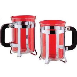 Vinzer -  Набор из двух чашек - нержавеющая сталь, стекло Pyrex, 200 мл (арт. 69360)