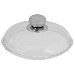 Vinzer -  Крышка стеклянная - диаметр 26 см, высокая, ручка из нерж, стали, жаростойкое стекло Pyrex (арт. 69388)