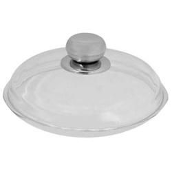 Vinzer -  Крышка стеклянная - диаметр 28 см, высокая, ручка из нерж, стали, жаростойкое стекло Pyrex (арт. 69389)
