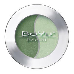 Атласные тени для век BeYu - Duo Eye Shadow №37 Grass Green - Misty Green (brk_349.37)