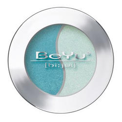 Атласные тени для век BeYu - Duo Eye Shadow №46 Charlotte Blue - White Ice (brk_349.46)