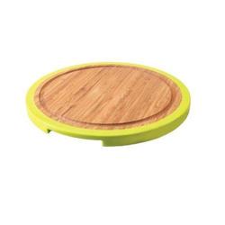 Berghoff -  Разделочная доска BergHOFF круглая 25 см (бамбук. ручки -  силикон) (арт.1101675)