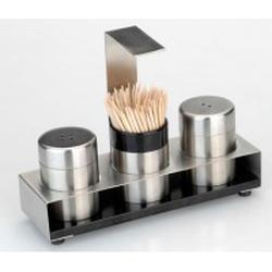 Berghoff -  Набор для соли и перца на подставке с зубочистками Cubo (арт. 1109565)