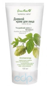 Green Mama - Дневной крем для лица Уссурийский хмель и витамин Е - 50 ml