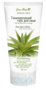 Green Mama - Тонизирующий гель для лица Алоэ Вера и лимон - 100 ml