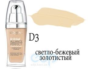 Тональный крем для лица тающий L'Oreal - Alliance Perfect №D3 Светло-бежевый золотистый - 30 ml