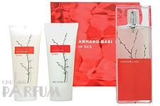 Armand Basi In Red -  Набор (туалетная вода 100 + лосьон-молочко для тела 200 + гель для душа 100)