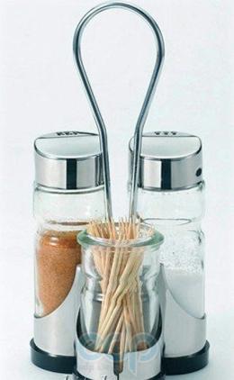 Maestro - Набор для соли, перца и зубочисток Rainbow - 3 предмета (арт. МР1610А)