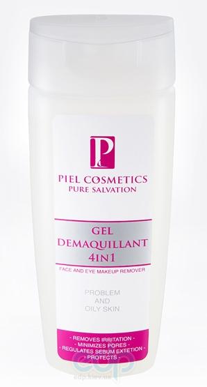 Piel Cosmetics - Pure Salvation Gel Denaquillant 4 in 1 Face and Eye Makeup Remover - Гель для снятия макияжа для проблемной кожи (глубокое очищение) - 200 ml