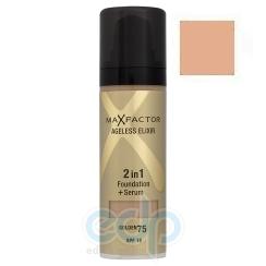 Основа тональная для лица Max Factor - AGELESS ELIXIR 2 в 1 Foundation + Serum №80 Бронзовый - 30 ml