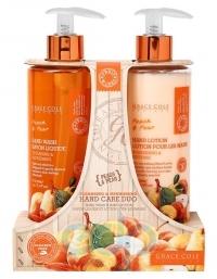 Grace Cole - Набор для ухода за кожей рук Hand Care Duo Peach & Pear с ароматом персика и груши