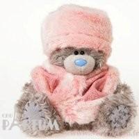 Teddy MTY (мишки) Игрушка плюшевая MTY (Me To You) -  мишка в голубом свитере и меховой шапке 17 см (арт. G01W2001)