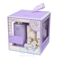 Grace Cole - Набор подарочный Travel Treats (гель для душа 100 ml + лосьон для тела 100 ml + мочалка) с ароматом лаванды