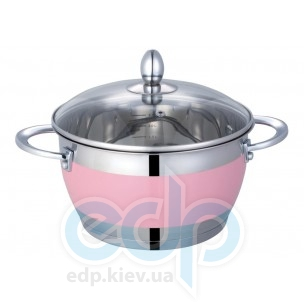 Lessner - Pink Кастрюля с крышкой объем 2.7 л диаметр 18 см  (арт. ЛС55117-18Р)