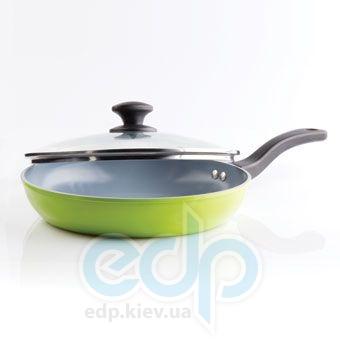 Maestro - сковорода с крышкой диаметр 26 см серая керамика (арт. МР1208-26)