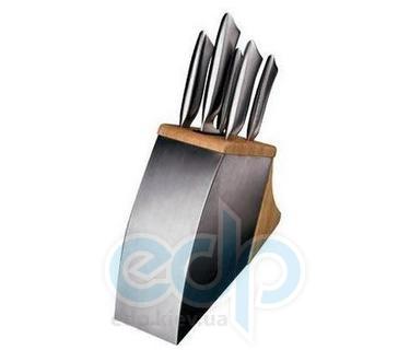 Vinzer (посуда) Vinzer -  Набор ножей TIGER - 6 предметов, подставка комб,: дерево - нержавеющая сталь, встроенное точило (арт. 69108)
