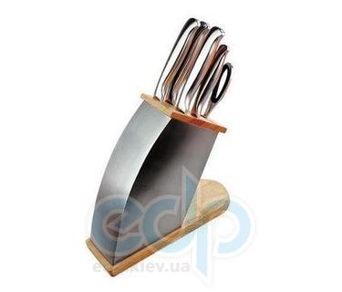 Vinzer (посуда) Vinzer -  Набор ножей ICEBERG - 7 предметов, стальная ручка, стальная подставка (арт. 89110)