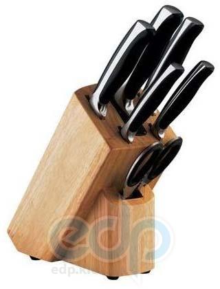 Vinzer (посуда) Vinzer -  Набор ножей CHEF - 7 предметов, подставка дерево, встроенное точило (арт. 89119)