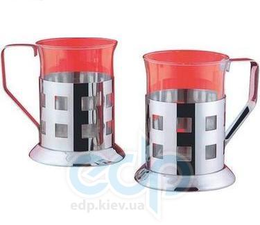 Vinzer (посуда) Vinzer -  Набор из двух чашек - нержавеющая сталь, стекло Pyrex, 200 мл (арт. 69354)