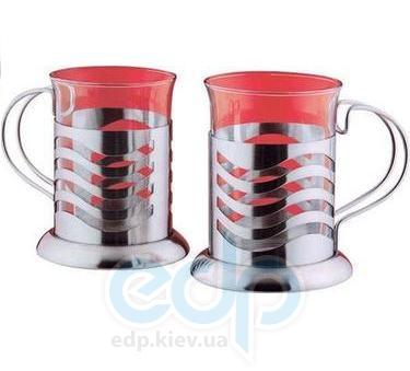 Vinzer (посуда) Vinzer -  Набор из двух чашек - нержавеющая сталь, стекло Pyrex, 200 мл (арт. 69362)