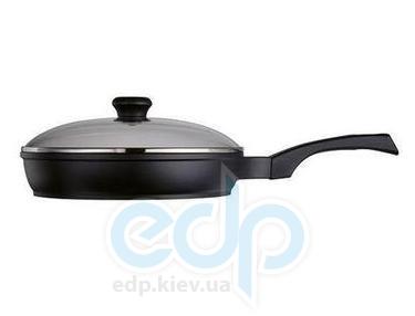 Vinzer - Сковорода с крышкой (Cast Form Classic) - диаметр 26 см, покрытие Teflon Platinum, крышка-стекло Pyrex (арт. 89408)