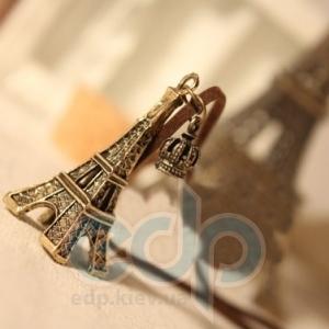 Eiffel Tower Эйфелева башня (Eiffel Tower) - подвеска на замшевом шнурочке - 4.5x2 см