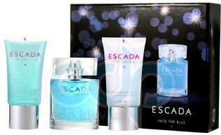 Escada Into the Blue -  Набор (парфюмированная вода 50+ лосьон-молочко для тела 50 + гель для душа 50)