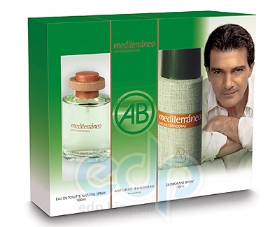 Antonio Banderas Mediterraneo -  Набор (туалетная вода 50 + дезодорант 150)