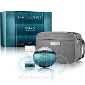 Bvlgari Aqva Pour Homme -  Набор (туалетная вода 50 + гель для душа 75 + bag)