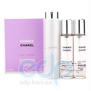 Chanel Chance Eau Tendre - туалетная вода -  3x20 ml Refill