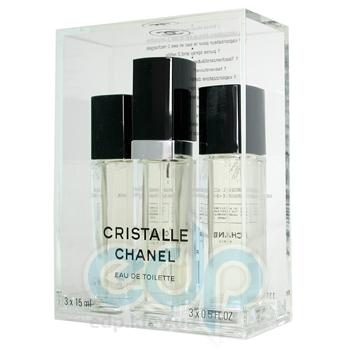 Chanel Cristalle - туалетная вода - 3x15 ml