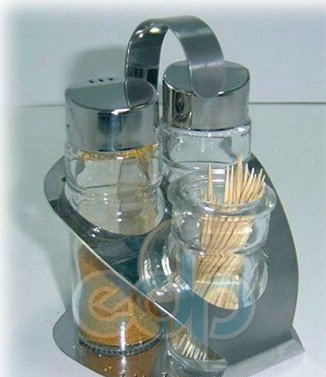 Maestro - Набор для соли, перца и зубочисток Rainbow - 3 предмета (арт. МР1611А)
