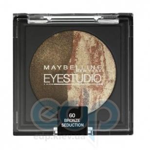 Тени для век 2-цветные запеченные Maybelline - EyeStudio №60 Медная гора - 4.5 g