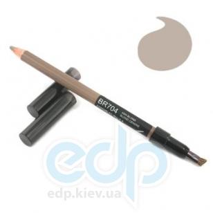 Натуральный контурный карандаш для бровей Shiseido - Natural Eyebrow Pencil BR 704 блонд - 1.1g