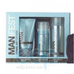 Mades Cosmetics - Manifest с экстрактом спирулины - Набор (гель для душа-шампунь 125 мл+сыворотка против морщин 75 мл+дезодорант 24H 50 мл)