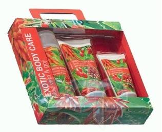 Mades Cosmetics - Exotic Body Care с экстрактами алое вера и ягод годжи - Набор (крем для душа 250 ml+скраб для тела 200 ml+крем для рук 100 ml)