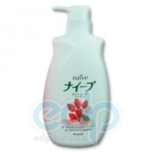 Kanebo Мыло для тела жидкое для чувствительной кожи с экстрактом плодов шиповника - Naive Rosehip Body Soap - 580 ml (KN 16733)